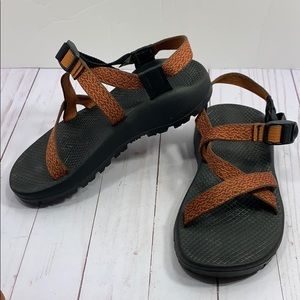Chaco red & orange sandals women's 7